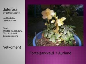 Forteljarkveld  i Aurland, 19.desember 2012